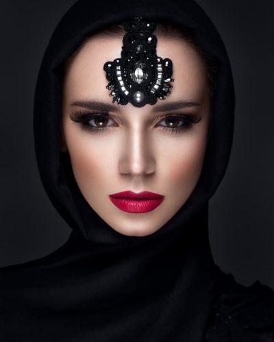 Zwart hijab